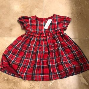 Gymboree plaid holiday dress NWT size 12-18months